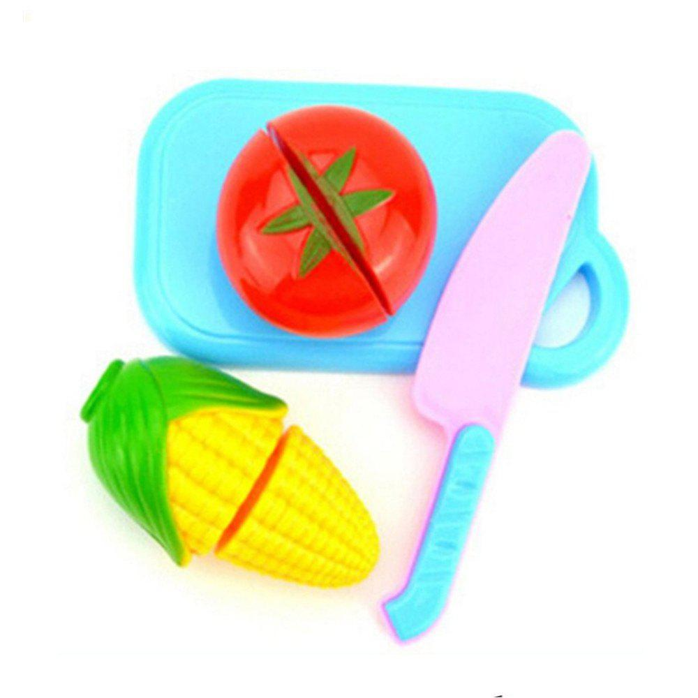Pretend Kitchen Cutting Set New Vegetable Food Reusable Role Play kitchen toy cooking food dishes cookware pretend