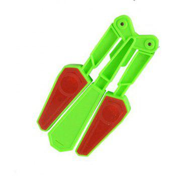 Finger Tip Flipping Butterfly Knife with Light Acrobatic Stress Relieve Toy - NEBULA GREEN