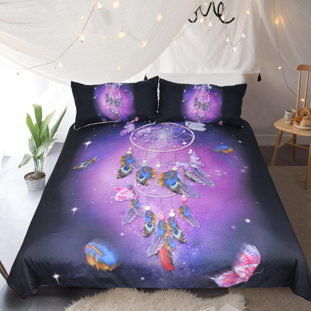 Butterfly Dreamcatcher  Bedding  Duvet Cover Set Digital Print 3pcs - multicolor QUEEN