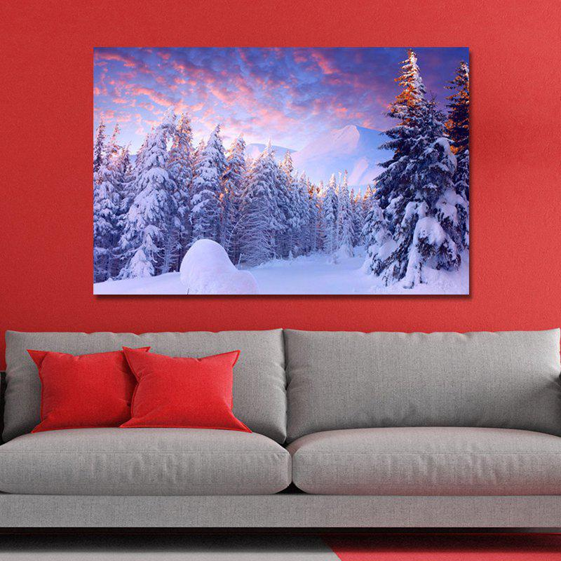 WP67GBUR Photography Forest Landscape in the Snow Print Art wpw4c5v5 photography a waterfall in the forest print art