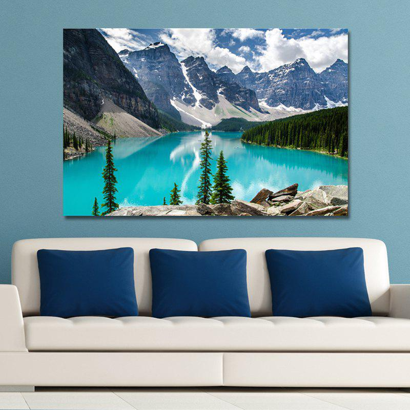 цена WPDGNYHU Photography Snow Mountain Blue Sea Scenery Print Art
