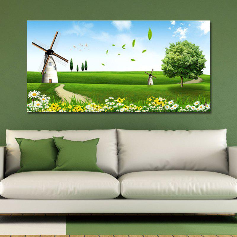 FJ0088 (1) A Big Windmill on the Meadow Print Art the bloody meadow