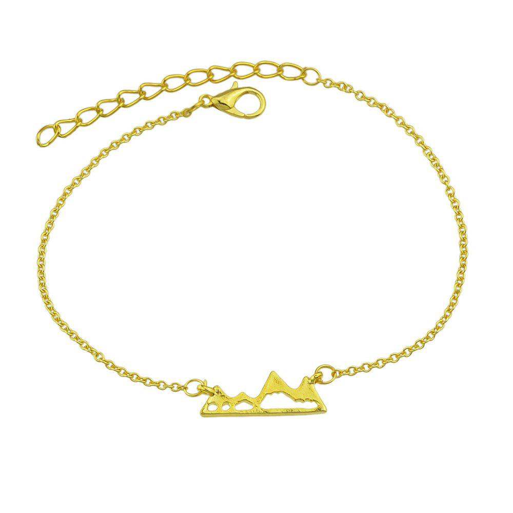 Gold-color Silver Color Chain with Mountain Shape Charm Bracelets silver multi layers chain with leaf shape charm bracelets
