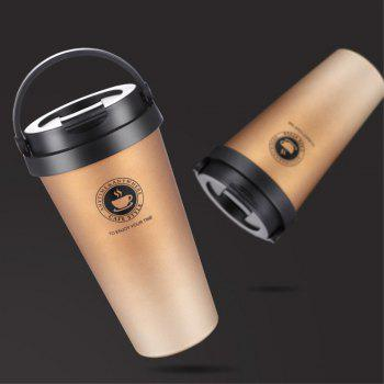 Creative Portable 304 Stainless Steel Coffee Cup for Men and Women - multicolor A