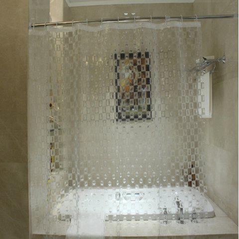 Antibacterial And Transparent Bathroom Shower Curtain
