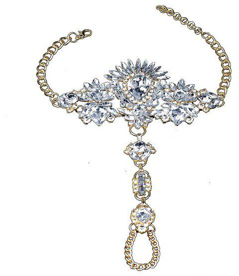 Exaggerated Personality New Alloy Gem Diamond Inserts The Female Foot Chain - multicolor C