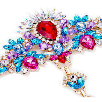 Exaggerated Personality New Alloy Gem Diamond Inserts The Female Foot Chain - multicolor A