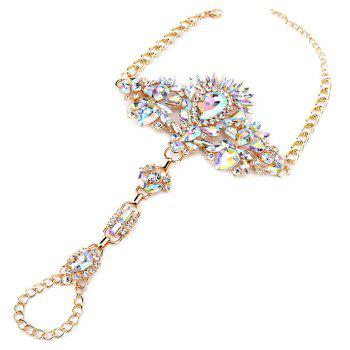 Exaggerated Personality New Alloy Gem Diamond Inserts The Female Foot Chain - multicolor B