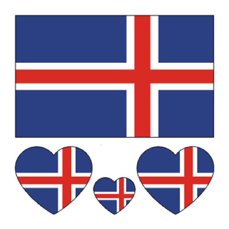 Football Iceland Flag Tattoo Body Stickers colombian flag body tattoo stickers