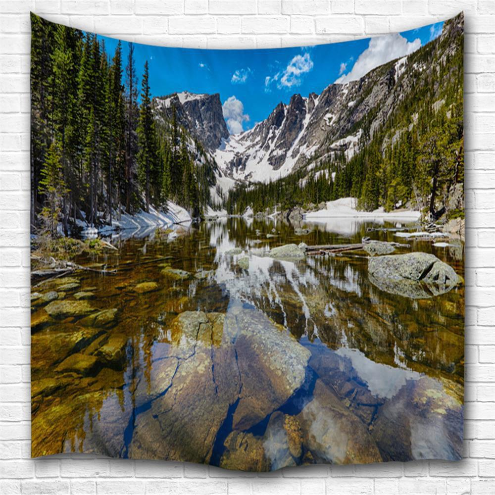 Rocky Mountain Dream Lake 3D Printing Home Wall Hanging Tapestry for Decoration одежда из меха snow dream lake xml9202