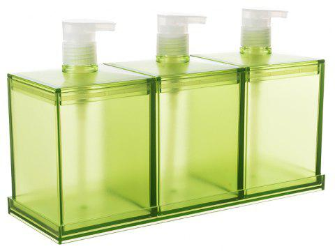 European Large-Capacity Plastic Lotion Bottle Three-Piece Storage Box - GREEN ONION 26X8.5X17CM