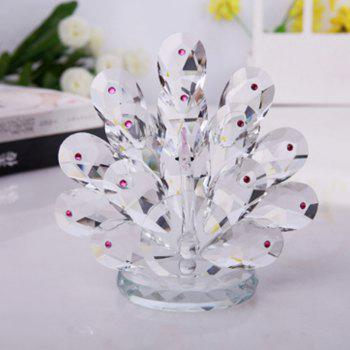 Home Exquisite Crystal Peacock  Decorative Crafts - PINK LEMONADE