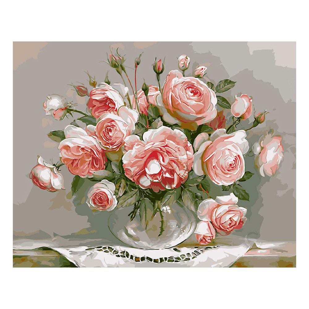Hand-painted DIY Peony Flower Home Decor Oil Painting water pump 6 holes 1 13610 877 0 for 6bd1 engine excavator ex200 2