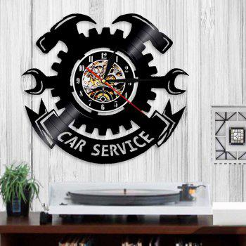 Vinyl Wall Clock Art Home Decal  Birthday Present - BLACK WITHOUT BATTERY