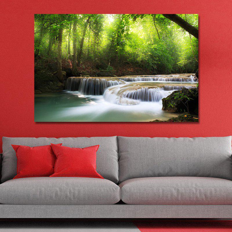 WPZB8A4Q Photography A Small River in the Forest Print Art wpw4c5v5 photography a waterfall in the forest print art