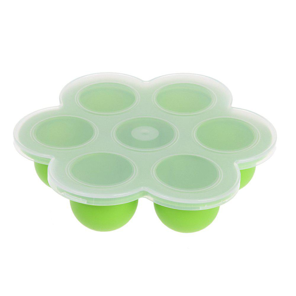Baby Silicone Assist Food Feeding Box Ice Cube Tray with Cover runba ice silk steering wheel cover sets with red thread