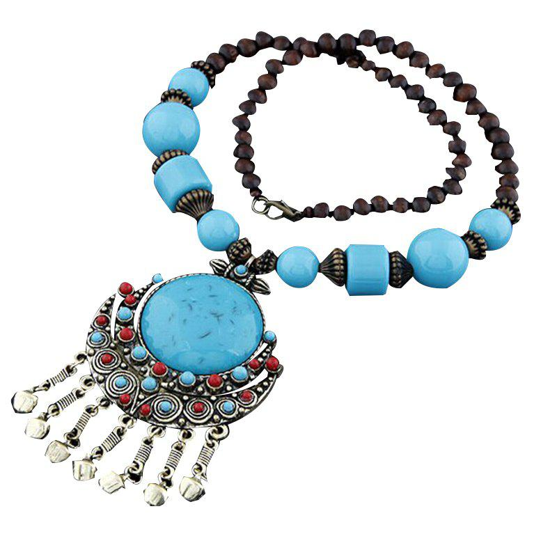 Fashion Round Beads Necklace Handmade Collar Necklace for Women Girls stylish women s beads round arc necklace