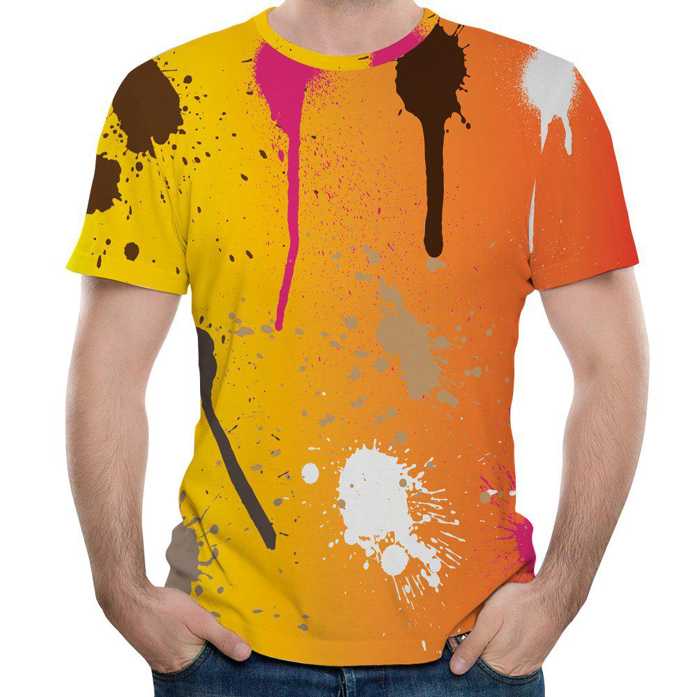 2018 Summer Men's New 3D Graffiti Printing Short Sleeve T-shirt