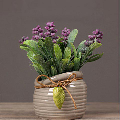 Pearl Grass Artificial Plant Potted - PURPLE