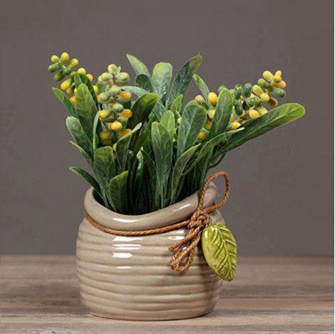 Pearl Grass Artificial Plant Potted - YELLOW