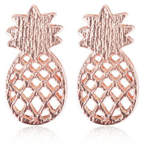 Simple Hollowed-Out Pineapple Fruit Earrings - ROSE GOLD