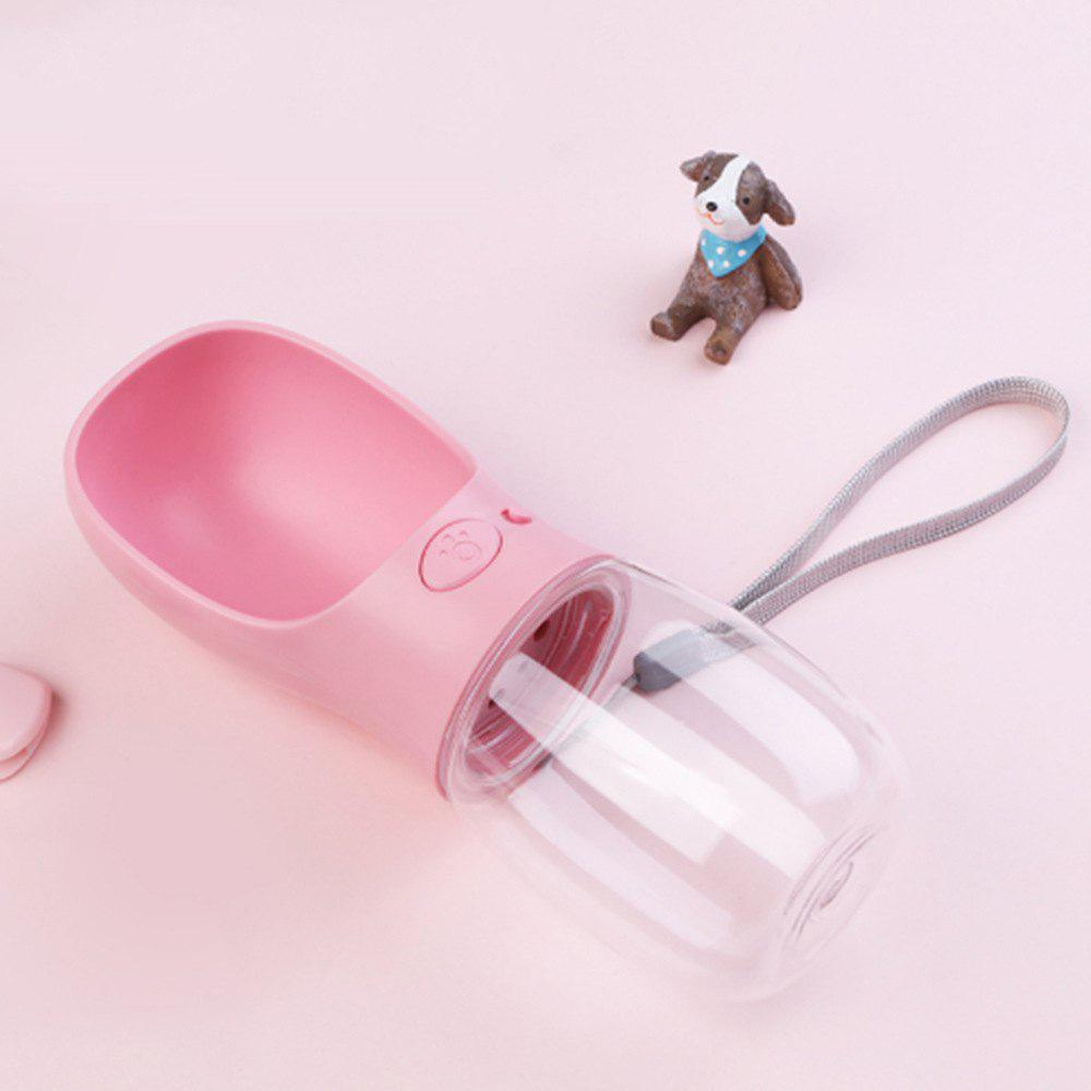 350ML Portable Pet Dog Kettle Puppy Cat Outdoor Drinking Fountain - PINK