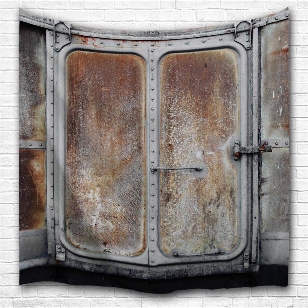 Old Container Door 3D Printing Home Wall Hanging Tapestry for Decoration vintage old car theme wood door photo backdrop vinyl cloth high quality computer print wall photography backgrounds