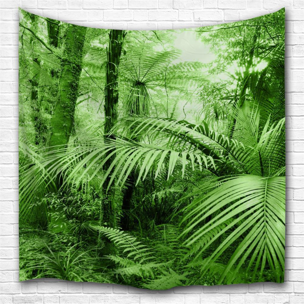 Tropical Forest 3D Printing Home Wall Hanging Tapestry for Decoration tropical forest 3d printing home wall hanging tapestry for decoration