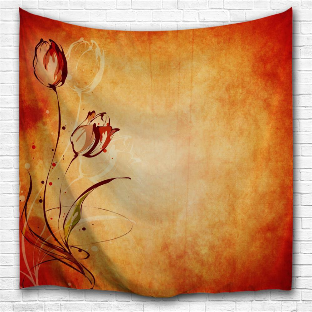 Vintage Tulips 3D Printing Home Wall Hanging Tapestry for Decoration vintage loft iron lid pendant light american restaurant lamps for home modern lamps vintage lighting for bedroom home decoration