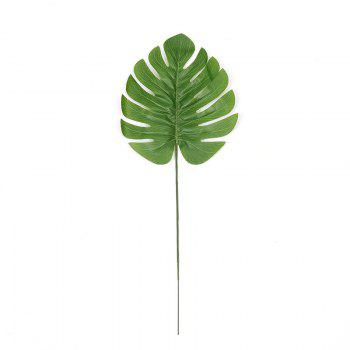 3PCS Leaf Fresh Style Home Office Artificial Plant Decor - JUNGLE GREEN