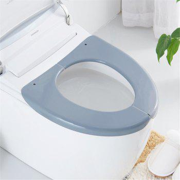 Convenient Collapsible Toilet Seat Cover - GRAY