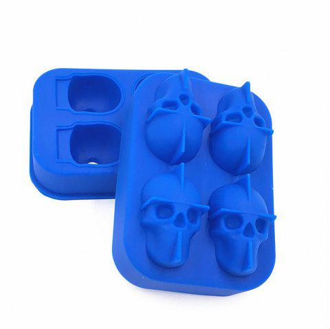 3D Skull Shape Ice Cube Mold Maker Bar Party Trays Food Grade Chocolate Mould - ROYAL BLUE