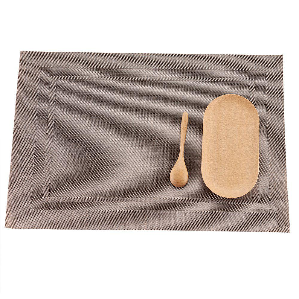 PVC Woven Placemats for Dining Washable Heat-Resistant Vinyl Table Mats woven vinyl non slip insulation placemat washable table mats