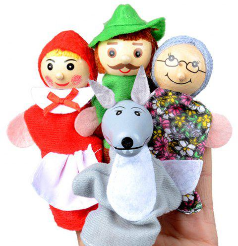 Kids Finger Puppets Doll Plush Toys - multicolor