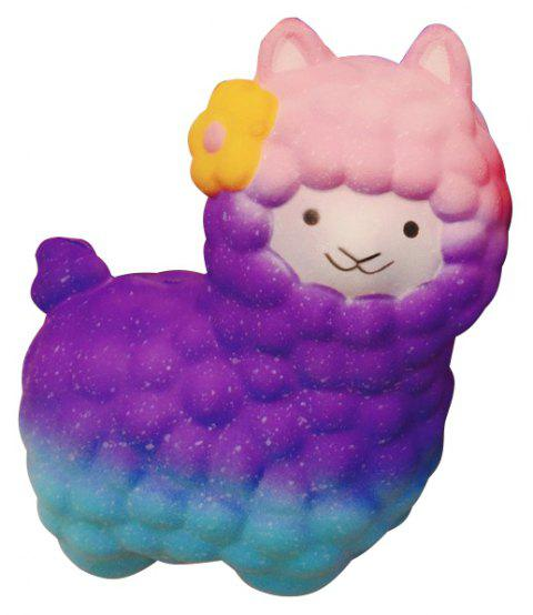 Vlampo Squishy Alpaca 17 x 13 x 8cm Slow Rising Original Packaging Collection Gift Decor Toy - PURPLE MIMOSA