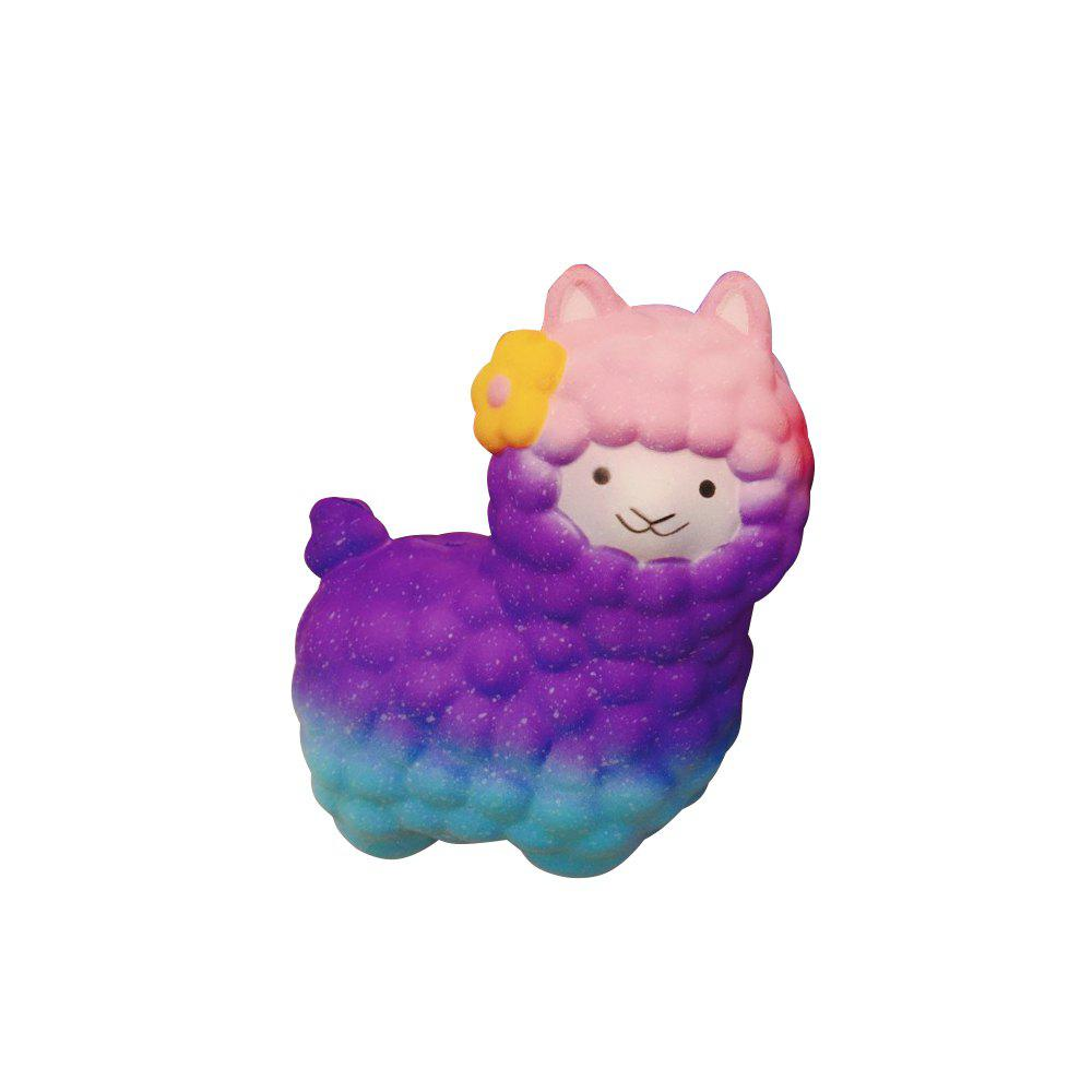 Vlampo Squishy Alpaca 17 x 13 x 8cm Slow Rising Original Packaging Collection Gift Decor Toy vlampo squishy layer birthday cake slow rising o riginal packaging box gift collection decor toy for children kids