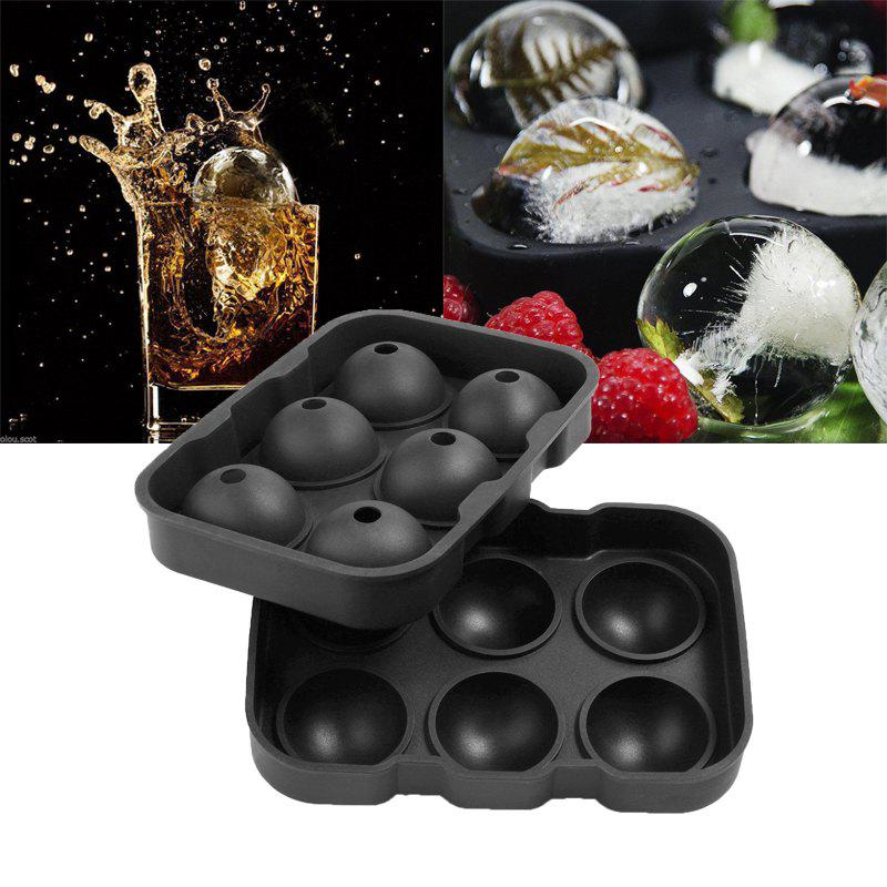 Hoard Large Size 6 Cell Whiskey Ice Ball Mold Silicone Cube Tray creative yelling face style ice cube tray mold black