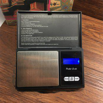 Portable Mini Pocket Jewelry Handheld Electronic Scale - BLACK