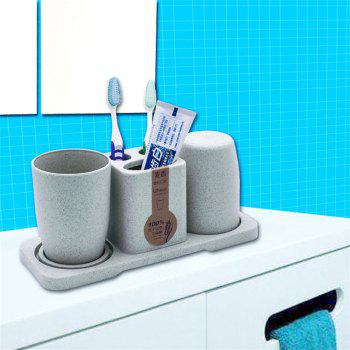 Couples in Bathrooms Gargle Cups and Mouths Brush Toothpaste Frames Toothbrush Holder - multicolor A