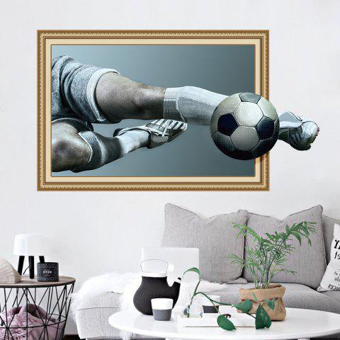 3D Creative PVC Stickers Muraux Home Decor Mural Art Amovible Football Mural Sticker - multicolor A