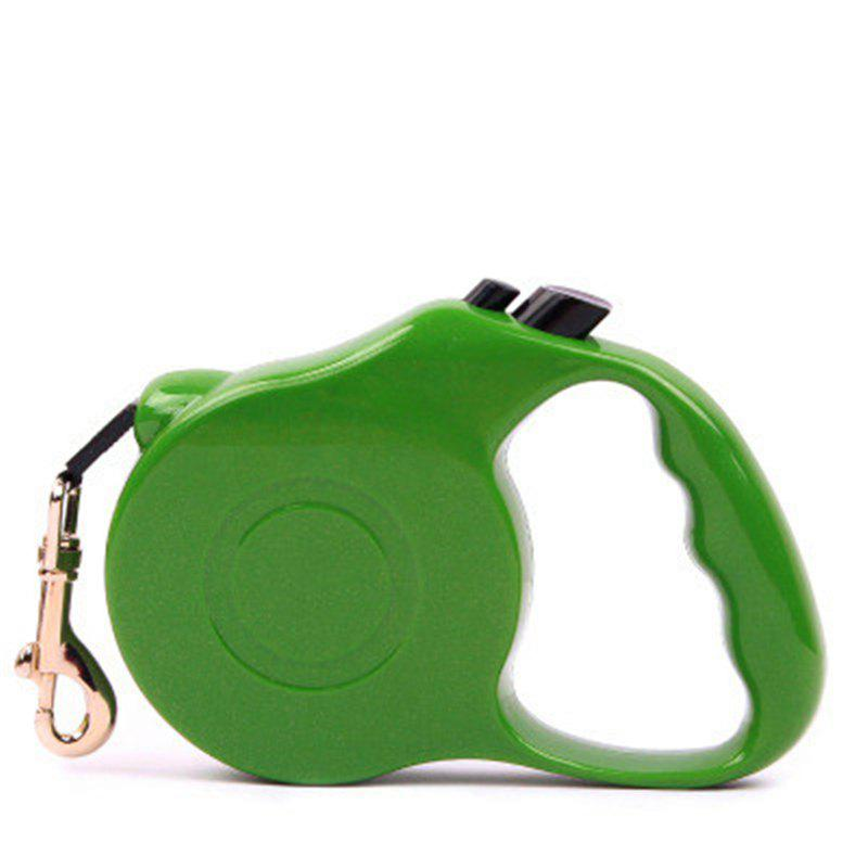 5M Automatic Retractable Dog Walking Lead Leash Pet Extending Traction Rope - GREEN