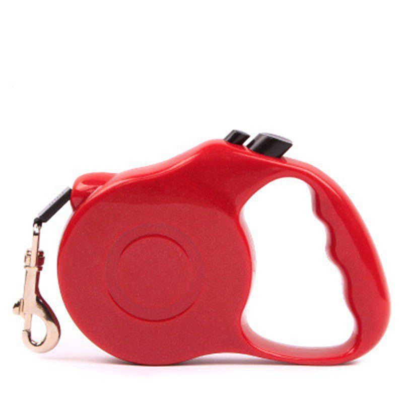 5M Automatic Retractable Dog Walking Lead Leash Pet Extending Traction Rope - RED