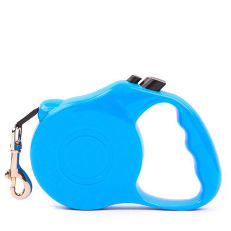 5M Automatic Retractable Dog Walking Lead Leash Pet Extending Traction Rope - DEEP SKY BLUE