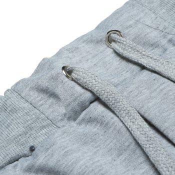 2018 New Men's Fashion Solid Color Rope Elastic Waist Casual Pants - LIGHT GRAY 3XL