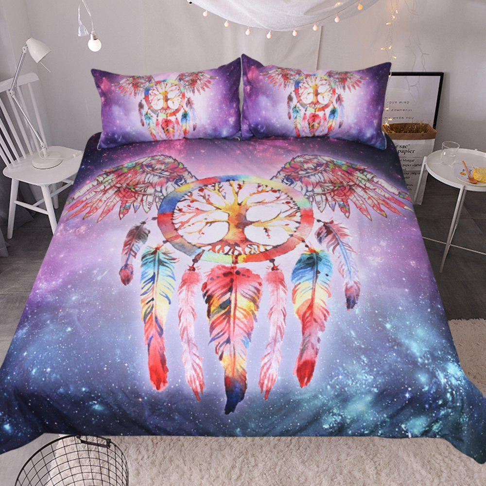 Dreamcatcher Bedding Duvet Cover Set Digital Print 3pcs - multicolor QUEEN