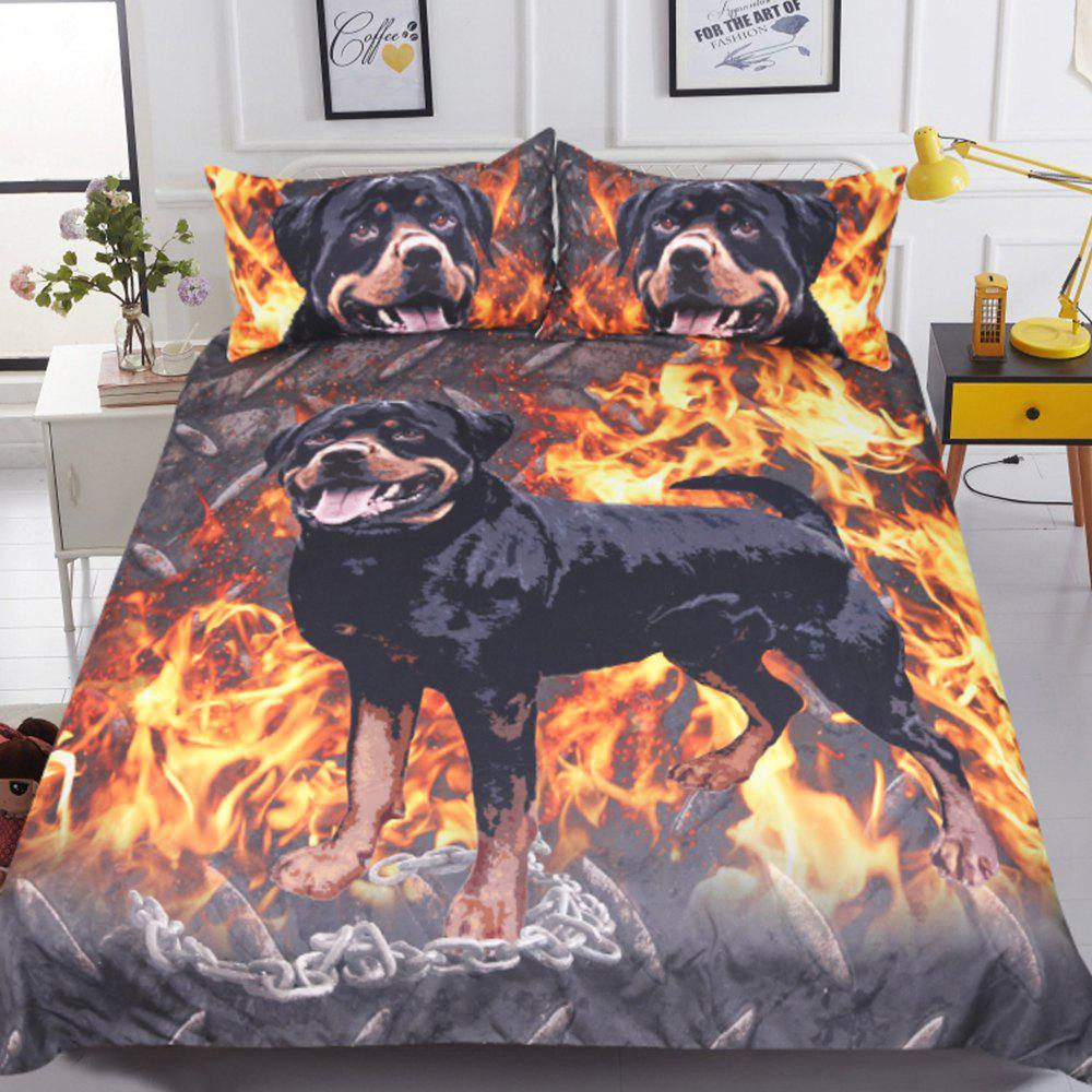 2018 Rottweiler Bedding Kids Boys Duvet Cover Set Digital