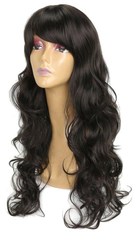 Charming Super Long Wavy Hair Black Color Heat Resistant Synthetic Wig for  Women - NATURAL BLACK d4d70f770a