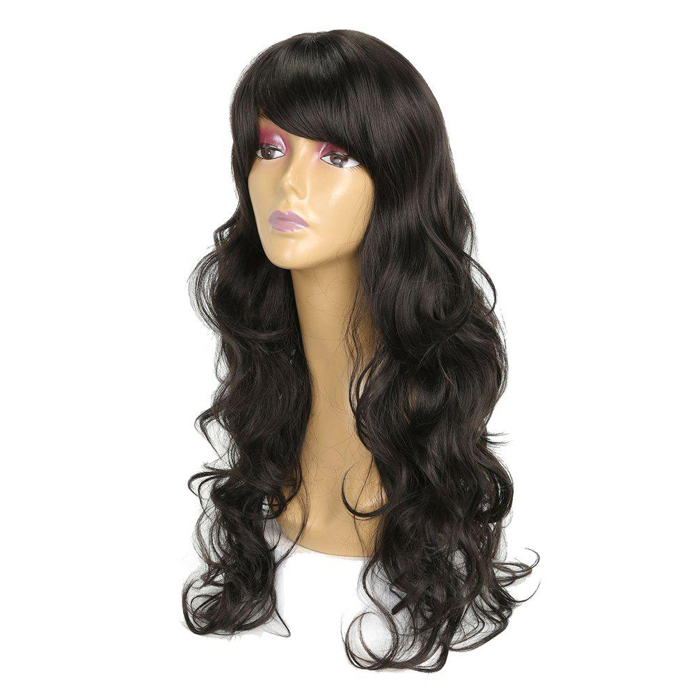 Charming Super Long Wavy Hair Black Color Heat Resistant Synthetic Wig for Women kylie jenner wig long black natural wavy hair lace front wig for black women synthetic heat resistant 180