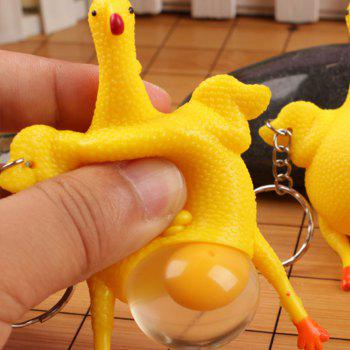 Jouets créatifs Funny Vent Squeezed Laying Hens - Jaune Canard Caoutchouc