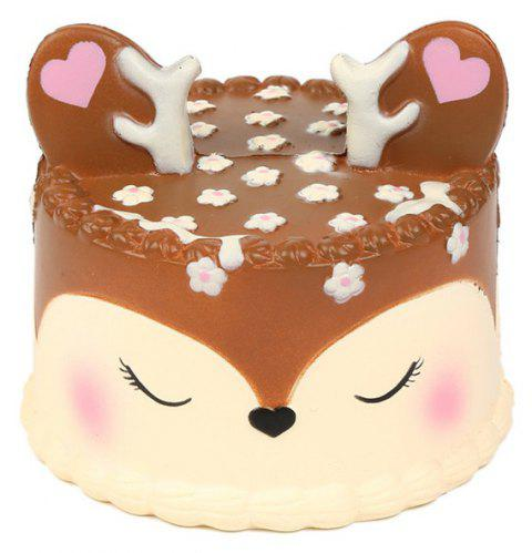 Jumbo Squishy Slow Rising Cute Deer Cake for Kids Party Toys - multicolor